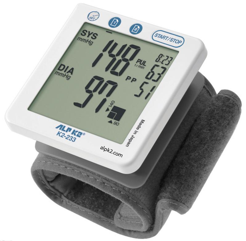 Máy đo huyết áp cổ tay tự động K2-233