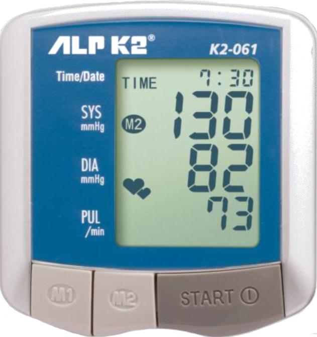 Máy đo huyết áp điện tử cổ tay ALPK2 K2-061. Made in Japan